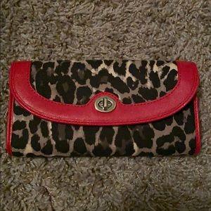 Leopard coach wallet